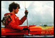 kayak en Groenlandia, Ramon Larramendi en Assiat en 1987.