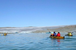 kayak en groenlandia, 15 días y noche glaciar