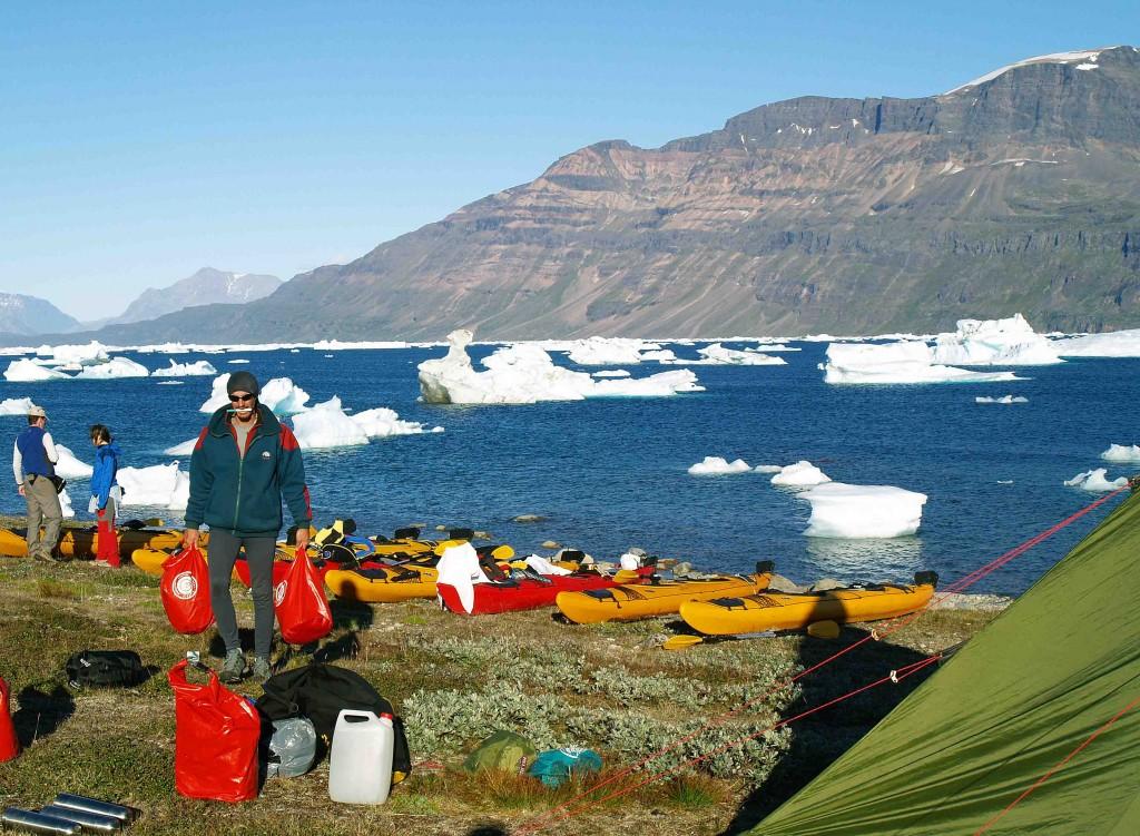 kayak en groenlandia, tasermiut, campamento kuusuaq