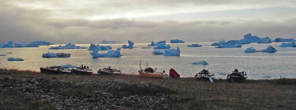 kayak in greenland. tasiusaq first night camp