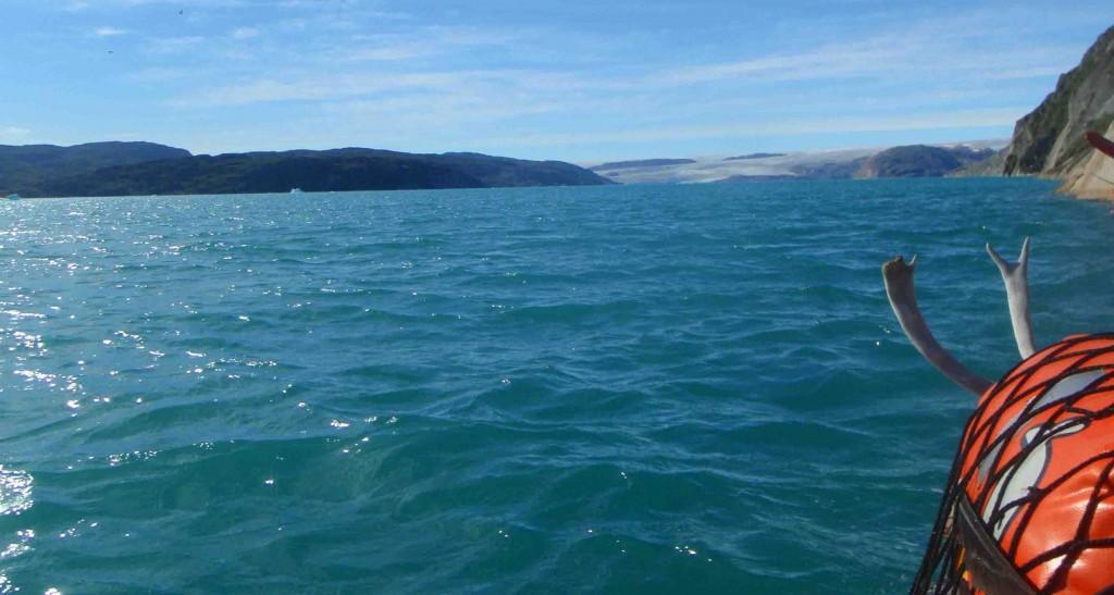 kayak groenlandia, llegando a qaleraliq y frentes glaciares