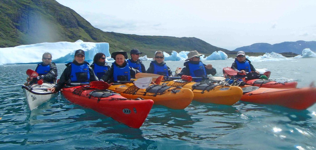 kayak in Greenland. Tasiusaq kayak group meeting