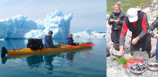 kayak en groenlandia, tasermiut, icebergs y mejillones