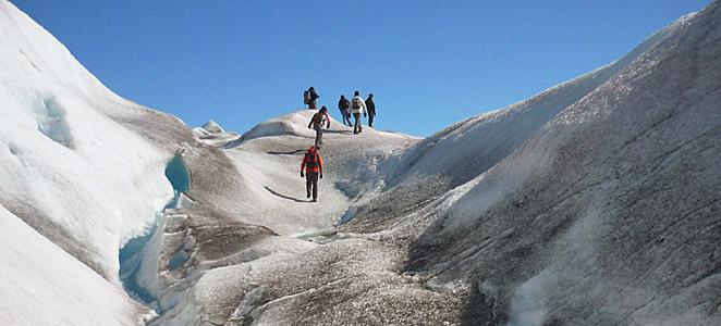 kayak groenlandia, trekking en glaciar