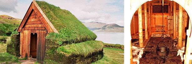 kayak in greenland. Qassiarsuk viking ruins
