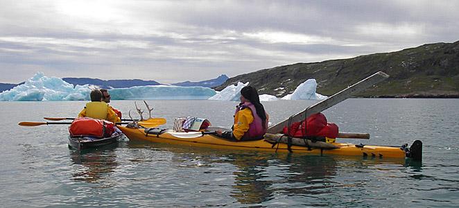 Viaje de kayak en Groenlandia, icebergs