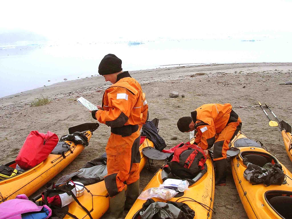 kayak in Greenland. small group travel in Greenland
